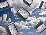 Laptops in de lucht